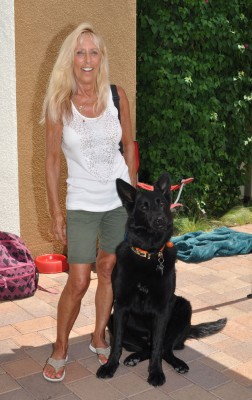 german shepherd alumni posing for photo